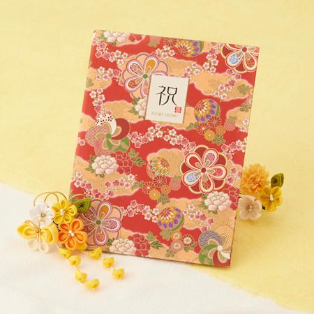 おしゃれな花柄の和風電報台紙